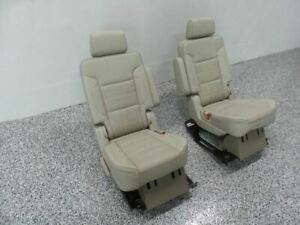 2016 Yukon Denali Second Row Seat Set Leather Seats 521163