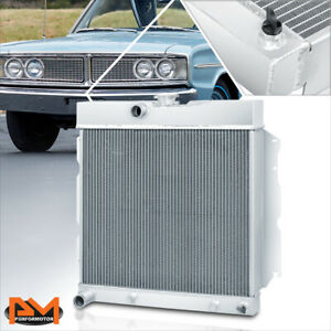 For 65 69 Charger Coronet Satellite At Mt Aluminum Core 2 Row Cooling Radiator