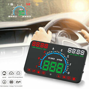 5 8 Universal Obd2 Obdii Car Gps Hud Head Up Display Overspeed Warning System