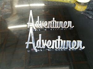 Dodge D100 Truck Sweptline Adventurer L r Badges Emblems1969 1971