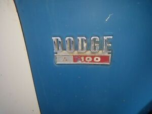 1969 1970 1971 Dodge Truck Sweptline D100 Adventurer Emblems L r Side 69 70 71