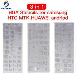 3pc Bga Stencils For Mtk Samsung Htc Huawei Android Directly Heated Stencils Kit