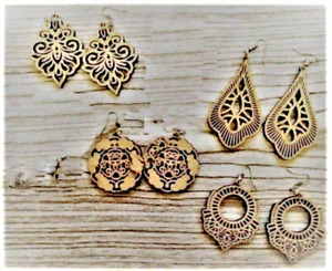 Dxf Cdr Svg Laser Cutting Files Plan For Cnc Earrings Plans