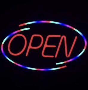 Led Open Sign For Business Bright Neon Light Large 18x10 5 Inch