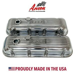 Big Block Chevy 454 Classic Valve Covers Polished Die cast Aluminum Ansen Usa