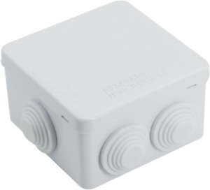 Abs Plastic Waterproof Junction Box Universal Electrical Project Enclosure White
