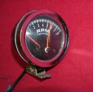 Vintage 60 S Tachometer Tach Gauge Chevy Ford Gasser Hot Rod 8k Electric