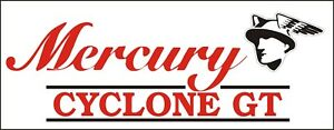 C096 Mercury Cyclone Gt Automobile Car Truck Antique Vehicle Banner Garage Signs