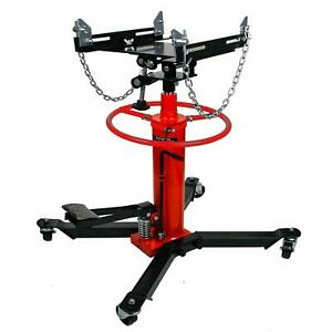 New 2 Stage Steel Hydraulic Transmission Jack Stand Gearbox Lifter Hoist 1100lbs