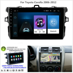 9 Android 9 1 Car Stereo Radio Gps Wifi Bt Dab Obd For Toyota Corolla 2006 2012