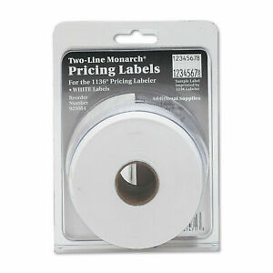 Monarch Easy load 1136 Two line Pricemarker Labels 5 8 X 7 8 White 3500 pack