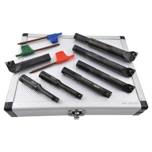 7 Piece 1 2 Round Shank Indexable Boring Bar Set 1001 0705