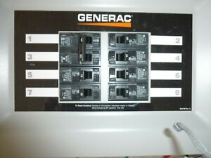Generac Homelink 6852 30a Wired 8 10 Circuits Generator Transfer Switch Open Box