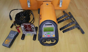Spectra Precision Dialgrade 1250 Hp Pipe Laser Level Kit With Case And Extras