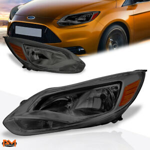 For 12 14 Ford Focus Smoked Lens Amber Side Corner Headlight Lamp Replacement