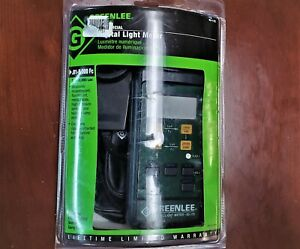 New Greenlee Digital Light Meter 93 172 In Packaging With All Accessories