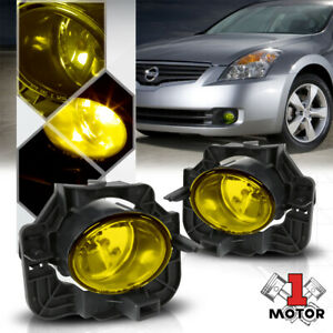 Golden Yellow Lens Replacement Fog Light Oe Bumper Lamp For 07 09 Altima Sedan