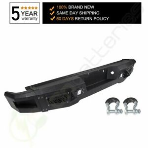 New Steel Step Rear Bumper For 2009 2014 Ford F150 Us Stock Assembly W Light