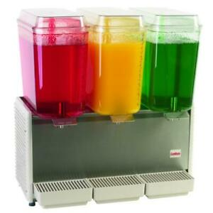 Crathco D35 3 3 Bowl Refrigerated Beverage Dispenser With S s Side Panel