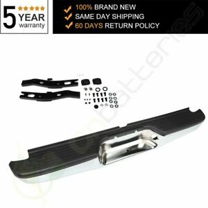 For 2000 2004 Toyota Tacoma Pickup Chrome Complete Rear Steel Bumper Assembly