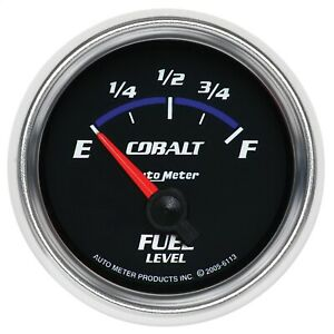 Autometer 6113 Cobalt Electric Gauge For Fuel Level With Black Dial Face
