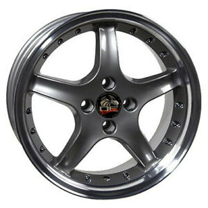17 Inch Aluminum Wheel For 79 93 Ford Mustang Cobra Anthracite Rim 4 Lug 108mm