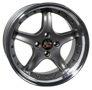 17 Inch Aluminum Wheel For 79 93 Ford Mustang rear Only Cobra Anthracite Rim