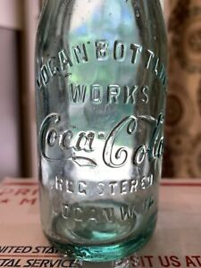 Early 1900's Logan WV Coca Cola Script Straight Side Bottle W VA West Virginia