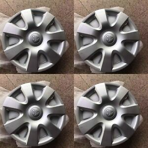 15 Inch New Wheelcover Set Of 4 For Toyota Corolla Camry 2000 2012 61115 Hubcaps