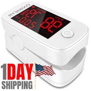 Finger Pulse Oximeter Blood Oxygen Spo2 Monitor Pr Pi Respiratory Heart Rate Fda