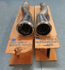1965 66 Nos Mustang Gt Dual Exhaust Trumpets Tips