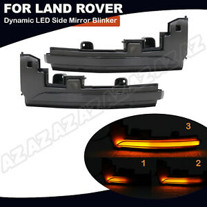 Sequential Led Side Mirror Turn Signal Light For Range Rover 13 18 Sport 14 18
