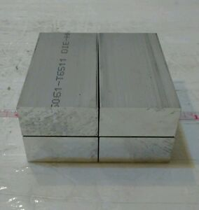 4 Pc 1 X 2 X 3 Long New 6061 Solid Aluminum Plate Flat Stock Bar Cnc Block