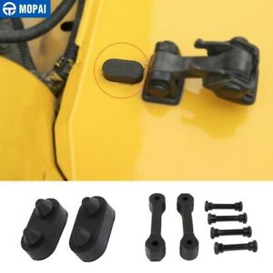 Car Hood Latch Lock Buckle Parts Rubber Pad Cover For Jeep Wrangler Tj 1997 06