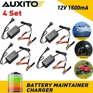 4x Smart Charging Battery Charger Maintainer 12v Trickle Rv Car Truck Motorcycle