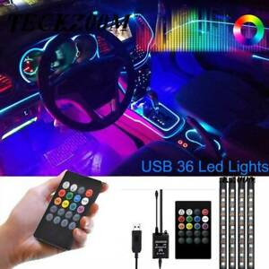 Usb Led Car Suv Light Interior Decor Neon Accessories Strip Music Leds Control