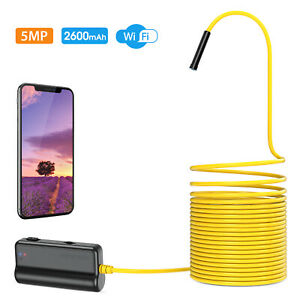 Depstech Wifi Endoscope 5 0mp Hd Snake Camera Inspection Borescope For Iphone