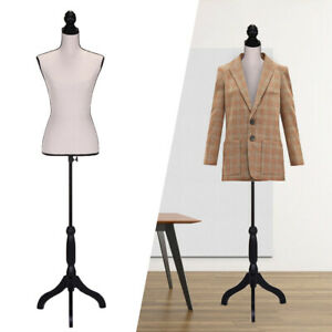 Beige Female Mannequin Torso Dress Clothing Form Display W tripod Stand New