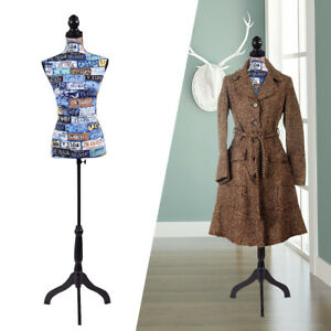 Female Mannequin Torso Dress Clothing Form Display W tripod Stand Colorful New