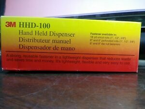 3m Hhd 100 Hand Held Dispenser Used With Scotch 100 Cable Tie Wrap New Lot Of 2