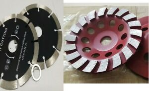6 Diamond Turbo Cutting Blade Grinding Cup 18 2 For Travertine Concrete Grinder