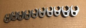 Snap on Tools 3 8 Drive Metric 6pt Flare Nut Crowfoot Socket Wrench Set 210frhma