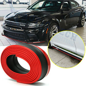 Front Bumper Lip Spoiler Wing Body Kit Spolitter Protect Trim For Dodge Charger
