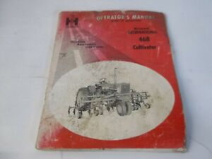 International Harvester Mccormick 468 Cultivator Farmall 504 Operator s Manual
