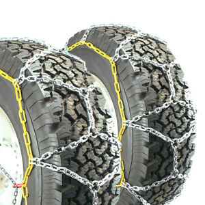 Titan Diamond Pattern Alloy Square Tire Chains On Road Snow 4 7mm 295 40 24