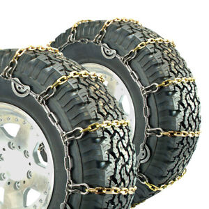 Titan Alloy Square Link Truck Cam Tire Chains On Road Ice snow 5 5mm 255 75 16