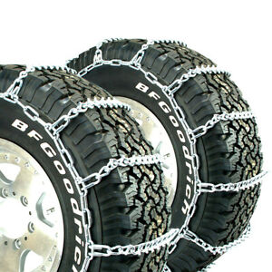 Titan Light Truck V bar Tire Chains Ice Or Snow Covered Roads 5 5mm 255 75 16