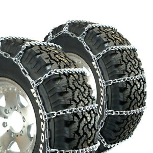 Titan Truck Link Tire Chains Dual Mount On Road Snow Ice 8mm 305 85 16