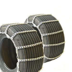 Titan Truck Link Tire Chains Wide Dual Cam On Road Snow Ice 8mm 38x15 16