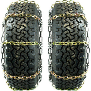 Titan Alloy Square Link Tire Chains On Off Road Ice Snow Mud 8mm 245 65 17